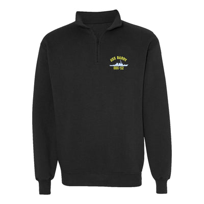 USS Barry DDG-52 1/4 Zip Sweatshirt - American Made