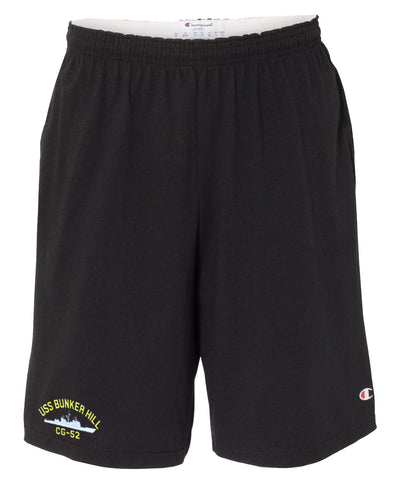 USS Bunker Hill CG-52 Cotton Champion® Shorts