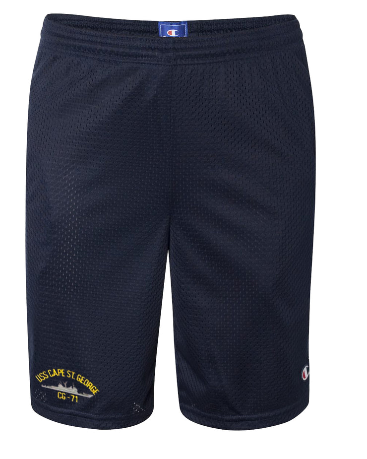 USS Cape St. George CG-71 Mesh Champion® Shorts
