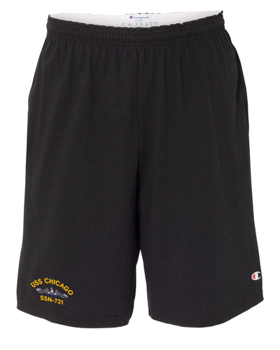 USS Chicago SSN-721 Cotton Champion® Shorts