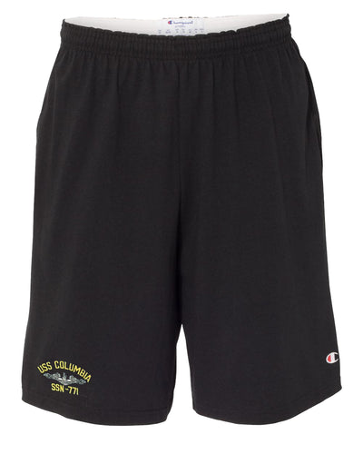 USS Columbia SSN-771 Cotton Champion® Shorts