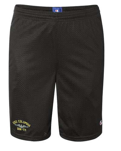 USS Columbia SSN-771 Mesh Champion® Shorts
