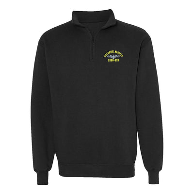 USS Daniel Webster SSBN-626 1/4 Zip Sweatshirt - American Made