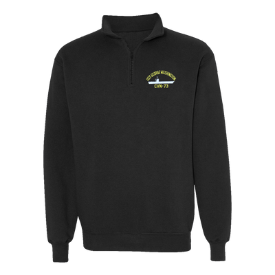 USS George Washington CVN-73 1/4 Zip Sweatshirt - American Made