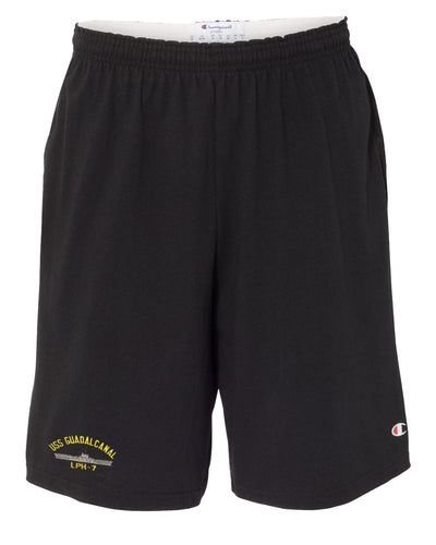 USS Guadalcanal LPH-7 Cotton Champion® Shorts