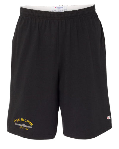 USS Inchon LPH-12 Cotton Champion® Shorts
