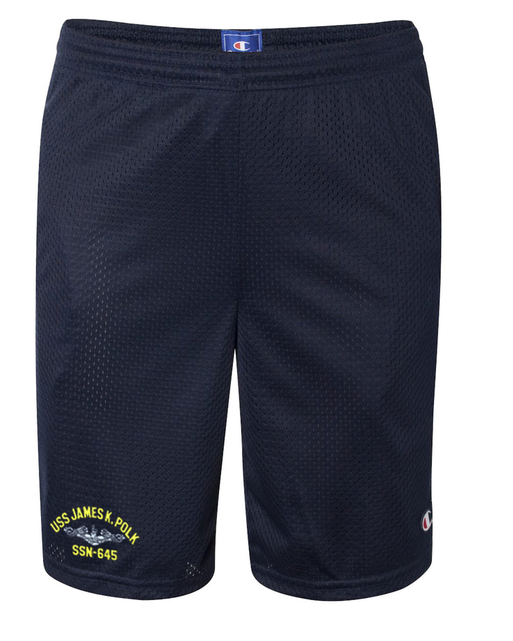 USS James K. Polk SSN-645 Mesh Champion® Shorts