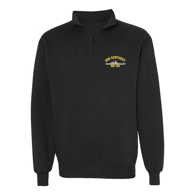 USS Kentucky BB-66 1/4 Zip Sweatshirt - American Made