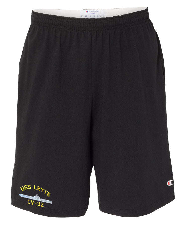 USS Leyte CV-32 Cotton Champion® Shorts