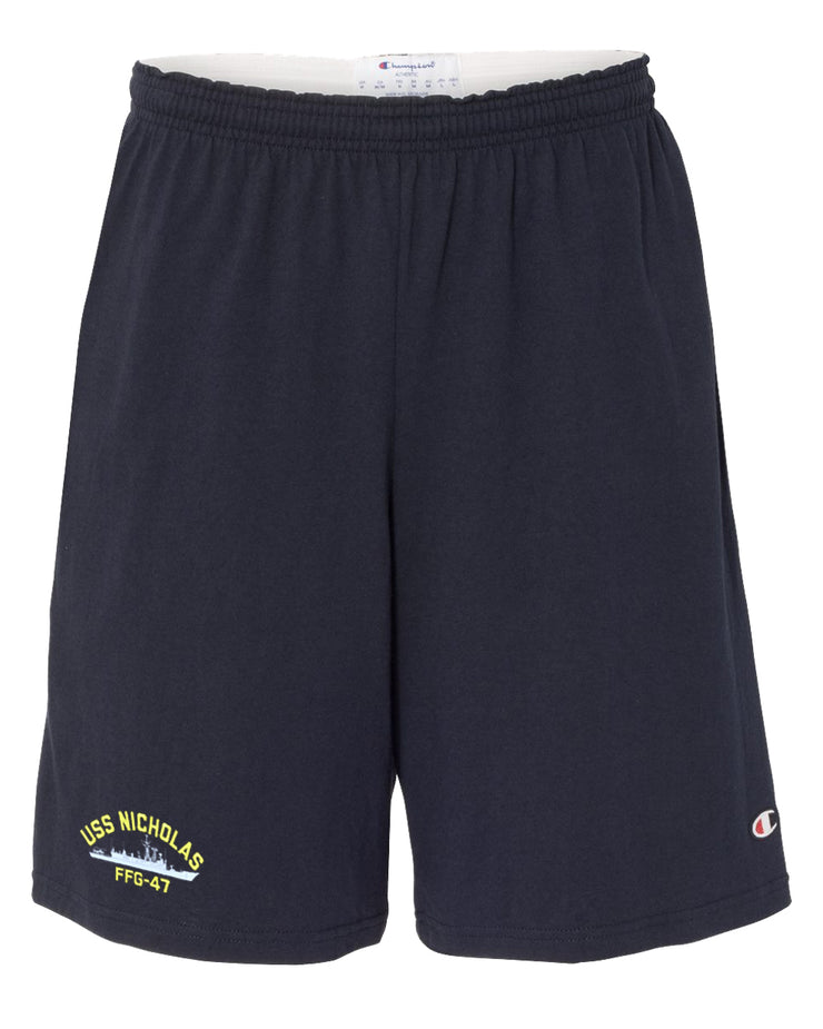 USS Nicholas FFG-47 Cotton Champion® Shorts