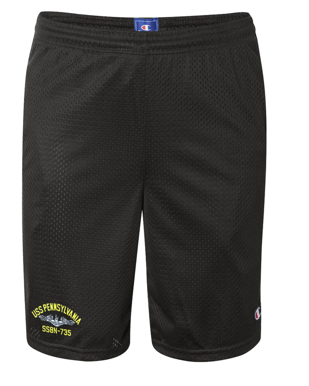 USS Pennsylvania SSBN-735 Mesh Champion® Shorts