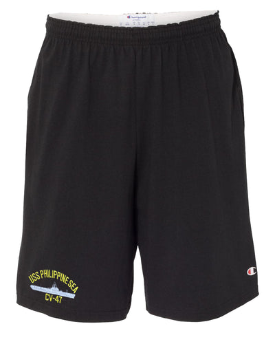 USS Philippine Sea CV-47 Cotton Champion® Shorts