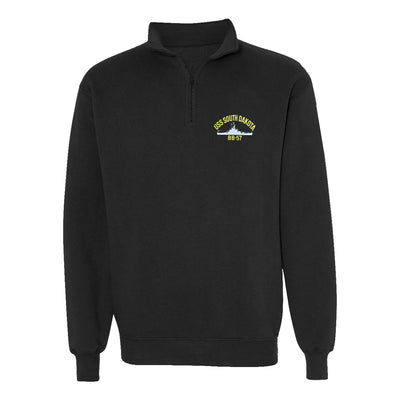 USS South Dakota BB-57 1/4 Zip Sweatshirt - American Made