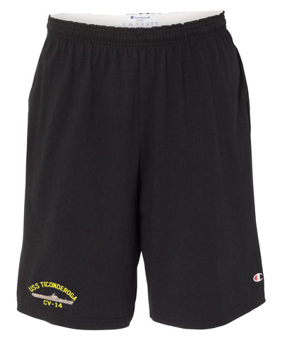 USS Ticonderoga CV-14 Cotton Champion® Shorts