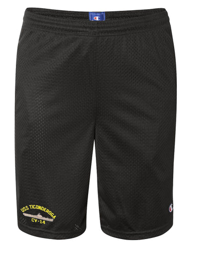 USS Ticonderoga CV-14 Mesh Champion® Shorts