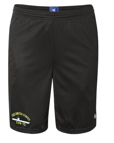 USS United States CVN-75 Mesh Champion® Shorts