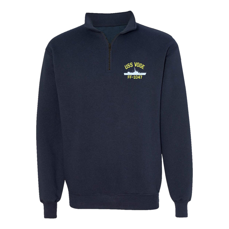 USS Voge FF-1047 1/4 Zip Sweatshirt - American Made