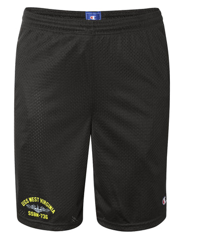 USS West Virginia SSBN-736 Mesh Champion® Shorts