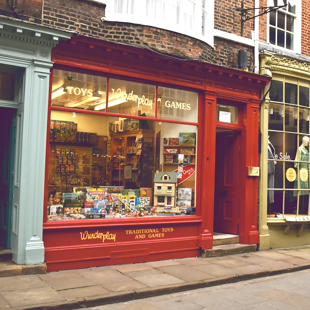 Wunderplay toy shop in Stonegate York