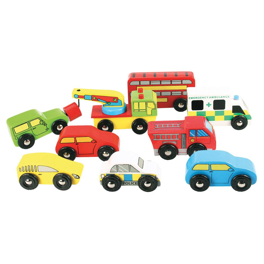 Bigjigs Wooden Vehicle Set