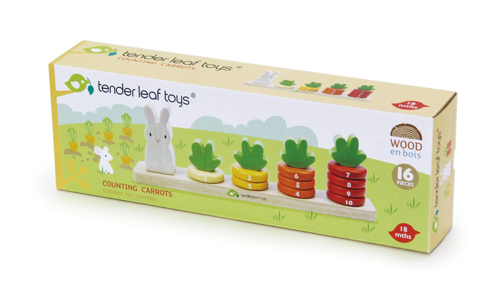 Tender Leaf Toys Counting Carrots Stacking Game