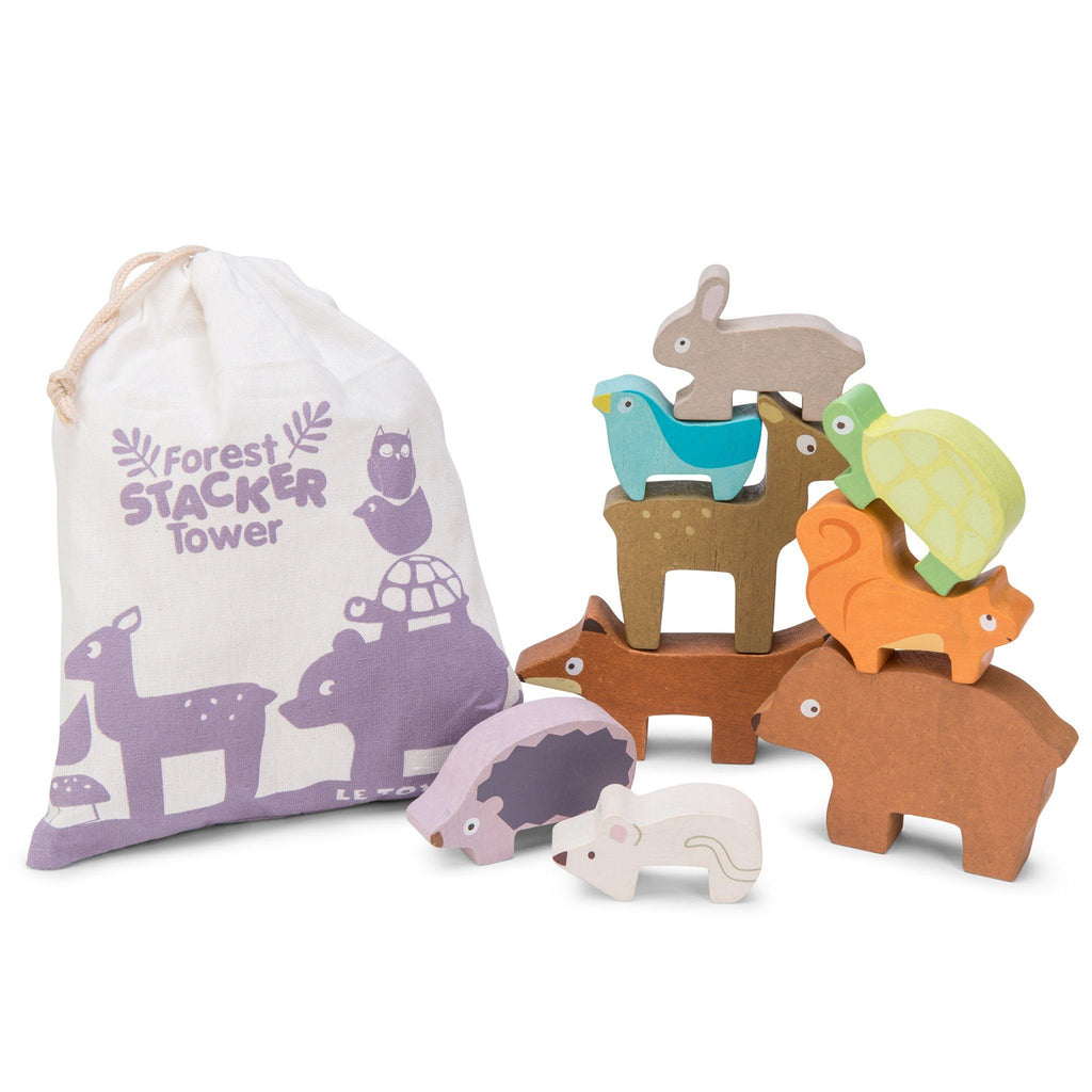 Le Toy Van Wooden Forest Stacking Animals