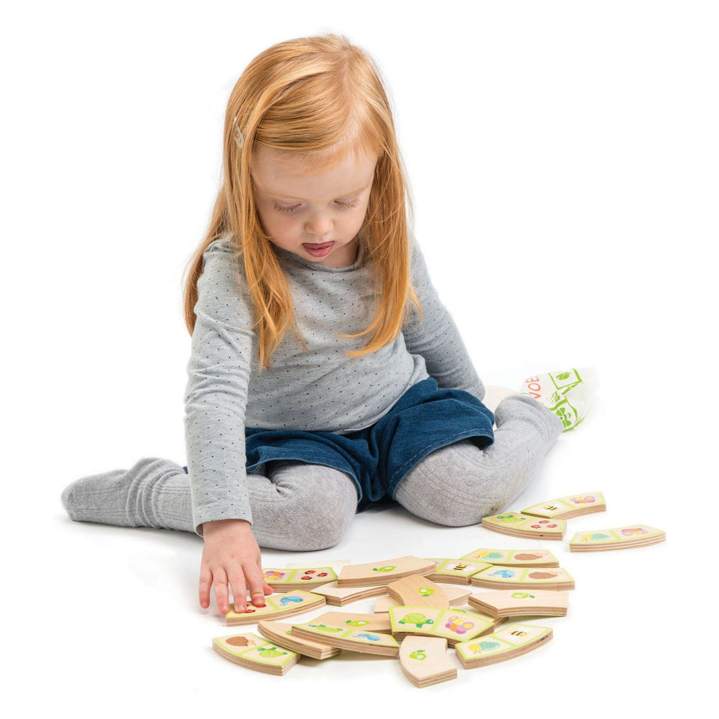 Tender Leaf Toys Garden Path Wooden Dominoes