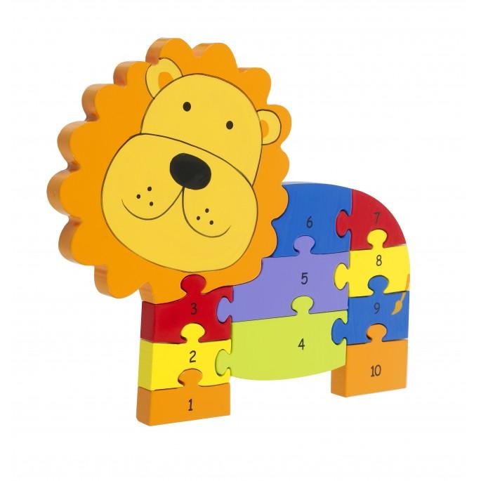 Orange Tree Toys Wooden Lion Number Puzzle