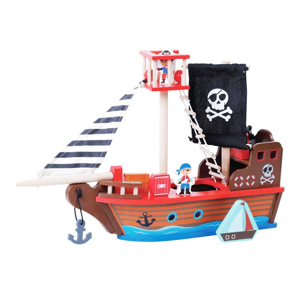 Jumini Wooden Pirate Ship