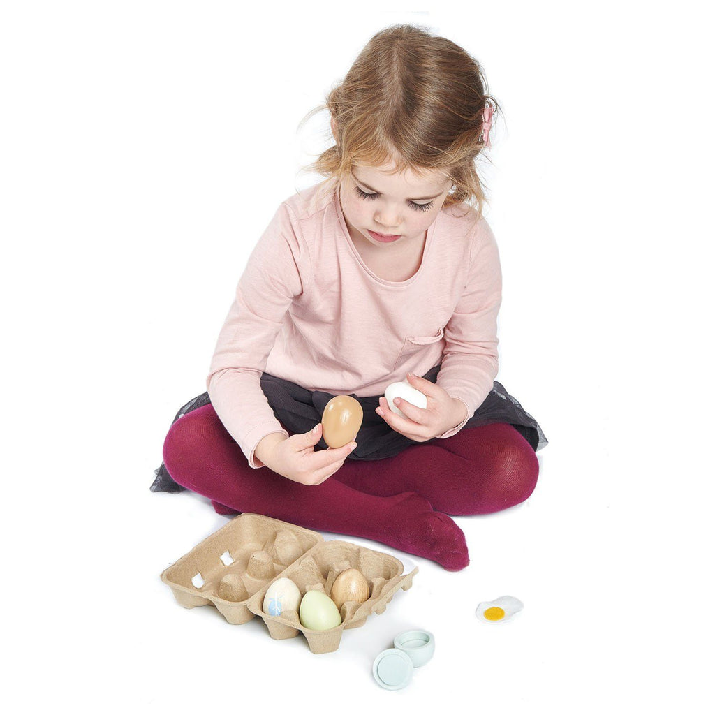 Tender Leaf Toys Wooden Eggs Toy