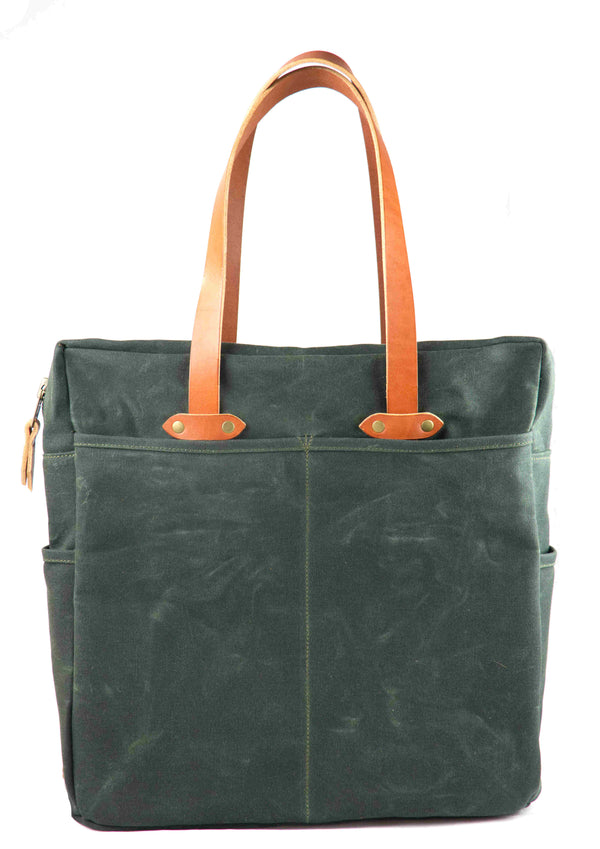 Shopper Tote w/ Top Zipper