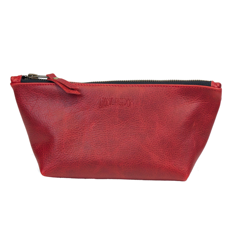 Leather Zip Bag