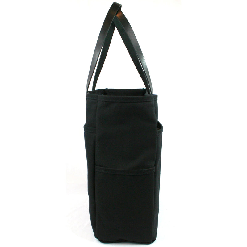 Shopper Tote: Black Canvas