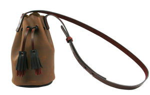 Leather Mini Bucket Purse