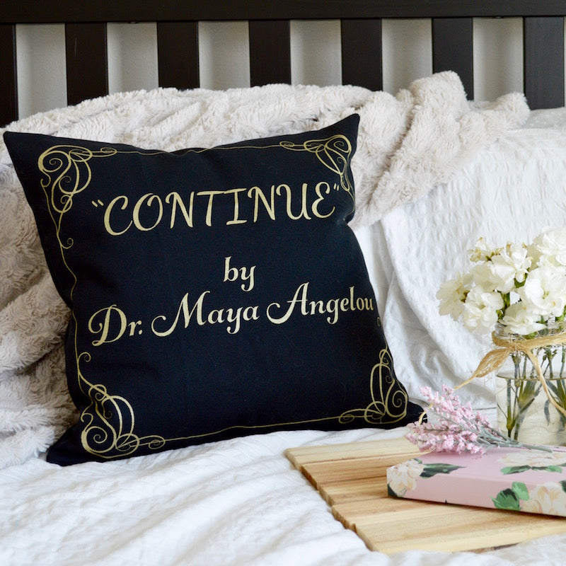 "Poetry Contest Winners + ""Continue"" Pillow Cover!"