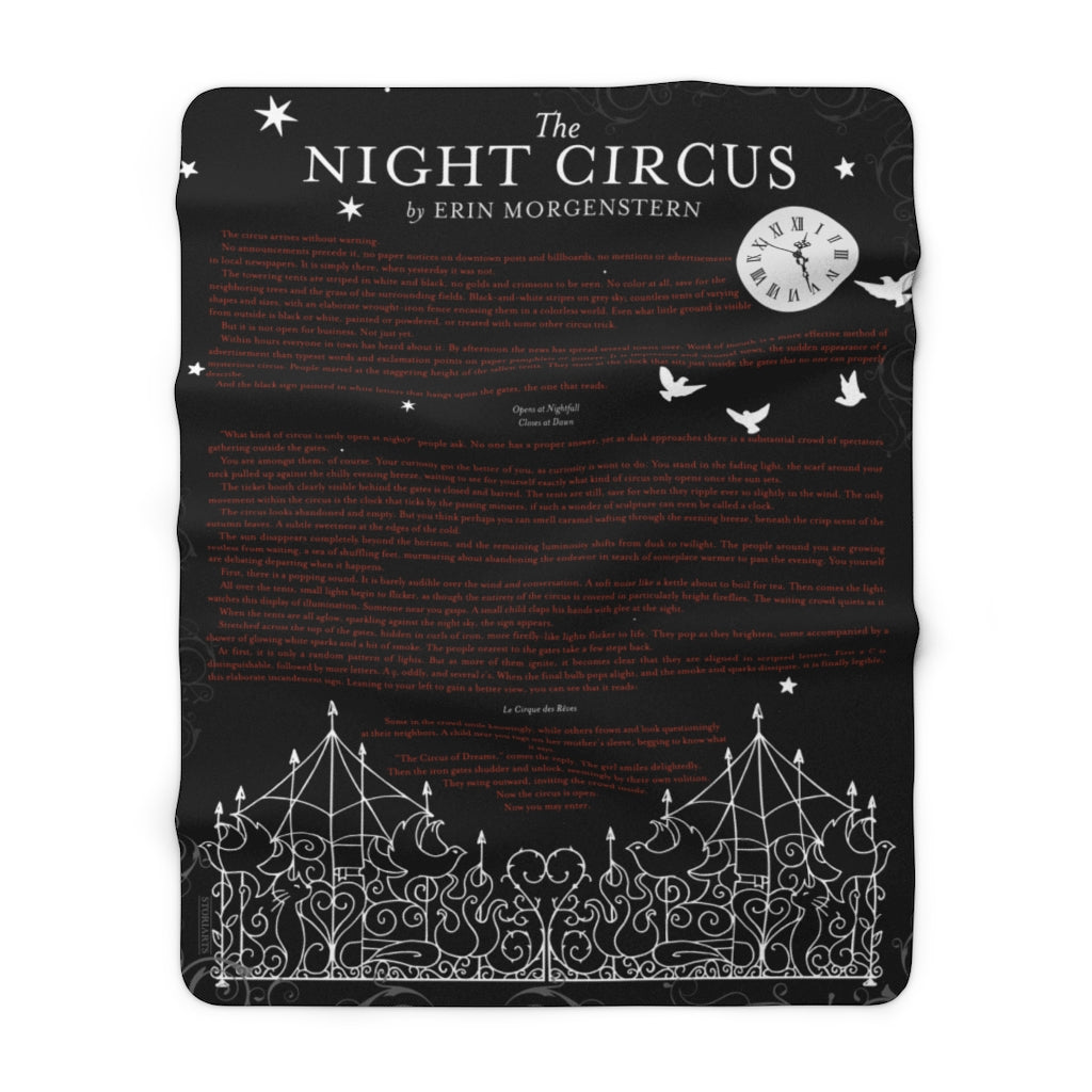 The Night Circus Sherpa Fleece Book Blanket