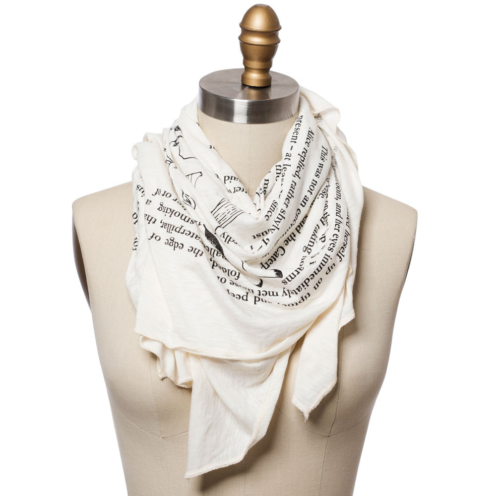 how to wear a lightweight scarf
