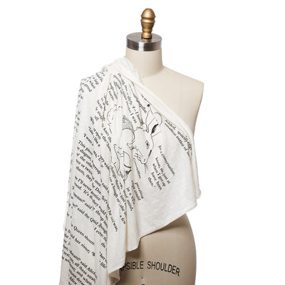 Alice in Wonderland Lightweight Literary Scarf