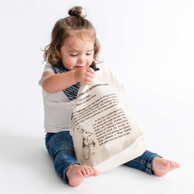Alice in Wonderland Storybook Kids Tote