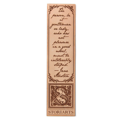 Jane Austen Leather Quote Bookmark