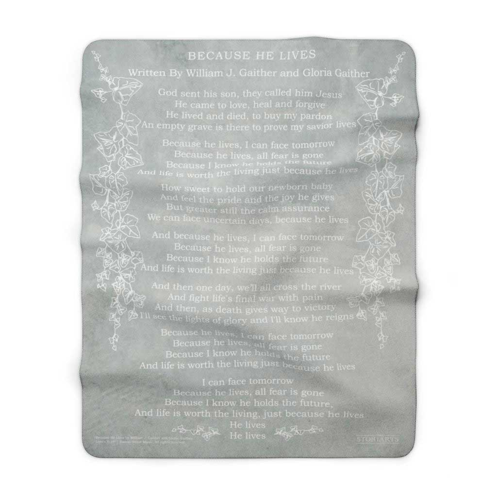 Gaither Music Blanket - Because He Lives