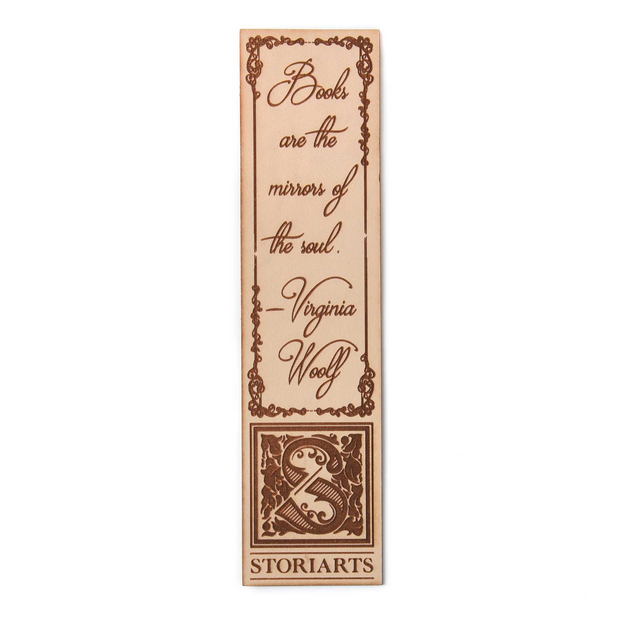 Virginia Woolf Leather Quote Bookmark