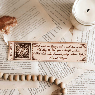 Lord Byron Leather Quote Bookmark