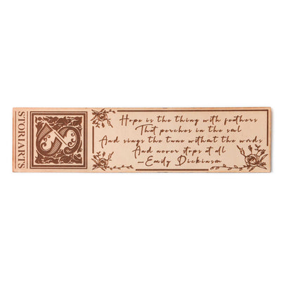 Emily Dickinson Leather Quote Bookmark