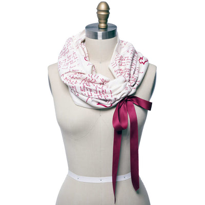 I Carry Your Heart Ribbon Book Scarf