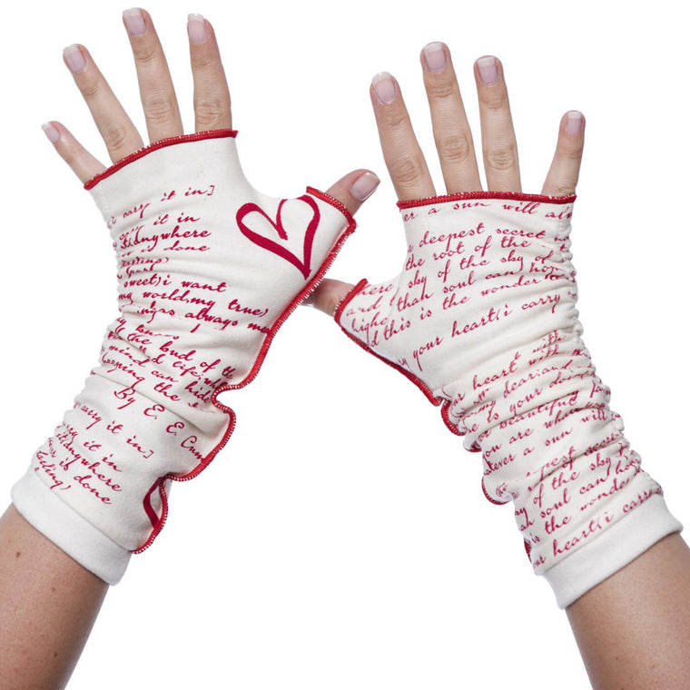 I Carry Your Heart Writing Gloves - Storiarts - 1