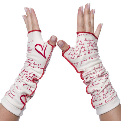 I Carry Your Heart Writing Gloves - Storiarts - 2