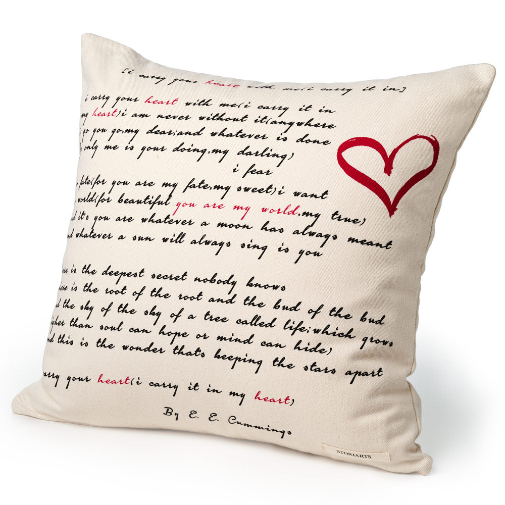 I Carry Your Heart Pillow Cover