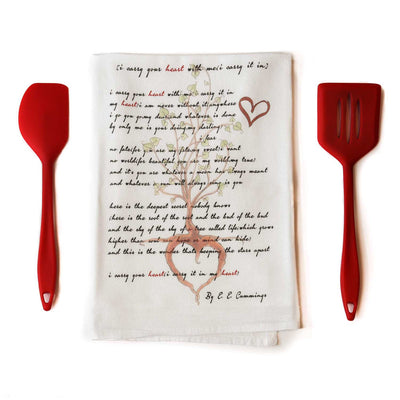 I Carry Your Heart Tea Towel