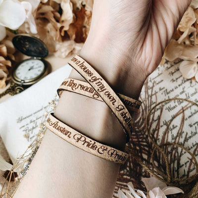 Jane Austen Leather Quote Bracelet